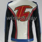 overwatch Soldier 76 cosplay costume  blue&white jacket Pleather cotton-padded