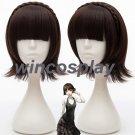 Persona 5 Makoto Niijima Wigs Mixed Brown Hair Cosplay Wig With Braid + Wig Cap