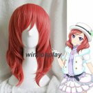 LoveLive! Love Live Maki Nishikino Short Red Heat Resistant Cosplay Costume Wig