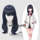 SSSS.GRIDMAN Takarada Rikka Black Cosplay Wig Medium Straight Hair Full Wigs
