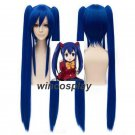 FAIRY TAIL Wendy Marvell Double clip Ponytail Cosplay Party costume Blue wig