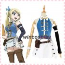 New Fairy Tail 3rd Lucy Heartfilia Complete Full Set Uniform Dress Customized