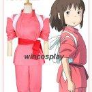 Anime Spirited Away Sen to Chihiro no Kamikakushi Ogino Chihiro Cosplay Costume