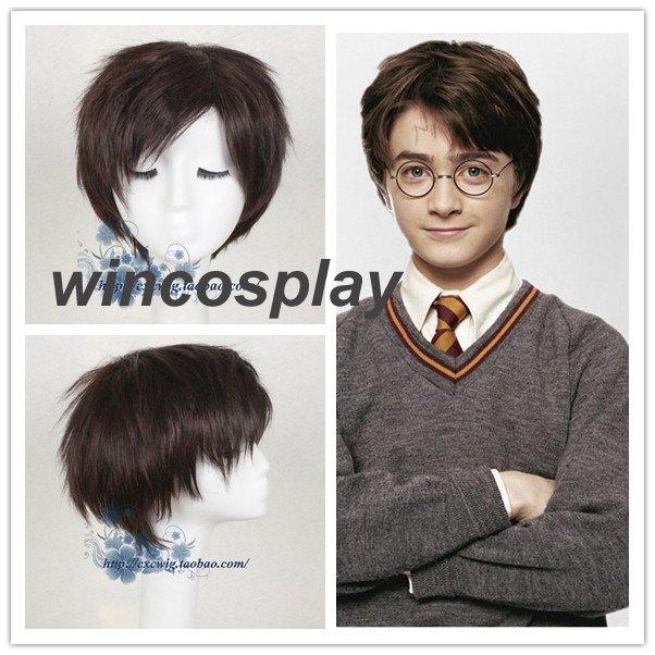 Harry Potter Dark Brown Short Wig Cosplay wig Halloween men cosplay wig