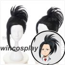 My Hero Academia Boku no Hiro Akademia Momo Yaoyorozu Black Cosplay Wig
