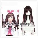 A.I.Channel Anchor Kizuna Ai YouTuber Brown Pink Mixed Long Straight Cosplay Wig