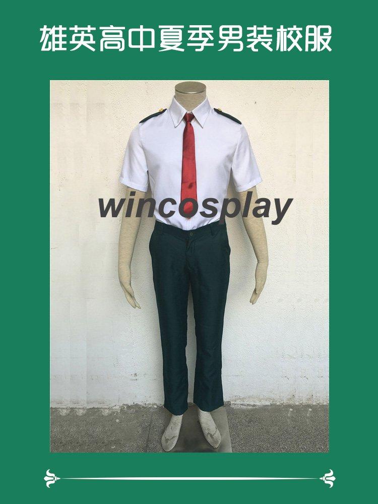 oku no Hero Academia Cosplay Costume Summer School Uniform My Hero Academia Cosplay Full Set