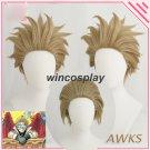 My Hero Academia Wing Hero: Hawks Cosplay Wig Hawks Short Brwon Anime Wigs