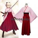 Fate/Grand Order Cosplay Costumes Fate Stay Night Sakura Saber Kimono costume