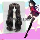 Fate/Grand Order Fate/Stay night Tohsaka Rin Black Long Wavy Cosplay Wig