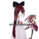 Puella Magi Madoka Magica.Sakura Kyouko Red Cosplay Wig