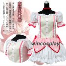 Puella Magi Madoka Magica Kaname Madoka Cosplay Costume Short Ball Dress With Bowknots Costume