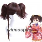 Kabaneri of the Iron Fortress Mumei Light Brown Cosplay Full Wigs with Ponytails