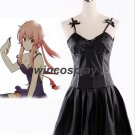 The Future Diary Gasai Yuno Black Dress Anime Future Diary Cosplay Costume yuno costume