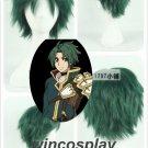 Anime Record of Grancrest War cosplay teo koruneiro cosplay wig men green wig