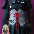 Shugo Chara Utau Hoshina Cosplay Costume halloween girls women black dress maid dress