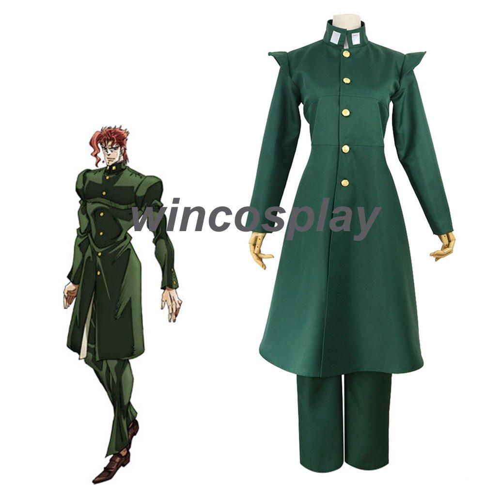 JoJo's Bizarre Adventure Noriaki Kakyoin cosplay costume Halloween male costumes any sizes