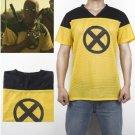 Deadpool 2 T-Shirt Superhero Yellow Slim Short Polyester Mens Cosplay Shirts Halloween Costume