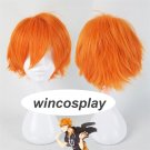 Anime Haikyuu!! Shoyo Hinata Cosplay Wig short orange Costume Play Wigs