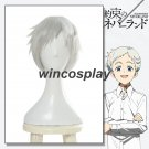 Anime The Promised Neverland Norman Men White Short Straight Cosplay Hair Wig
