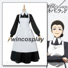 The Promised Neverland Isabella Cosplay  Costume Women Maid Dress Anime Costume Halloween