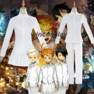 The Promised Neverland Emma Norman Ray Cosplay Costume White Shirt Skirt Uniform