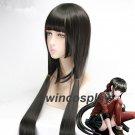 Danganronpa V3:Killing Harmony Harukawa Maki 120cm Straight Black Cosplay Wig