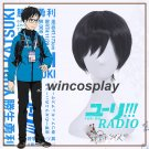 Anime YURI!!! on ICE Katsuki Yuri Short Black Straight Cosplay Party Full Wig