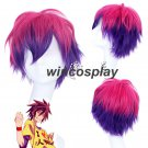 No Game No Life Sora cosplay wig sora Red to Purple Gradient Short Cosplay Party Wig