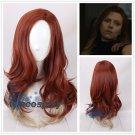 The Avengers 4: Endgame Black Widow Natasha Romanoff long Curly Synthetic Cosplay Wig