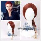 The Avengers 4 New Avengers Endgame Black Widow Cosplay Braided Hair Wig Natasha Romanoff Cosplay