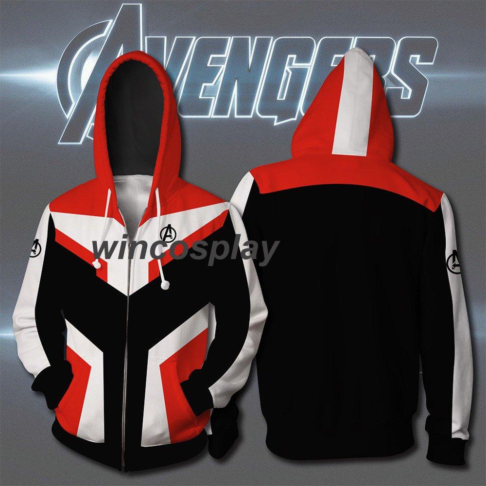 Avengers Endgame Quantum Realm Sweatshirt Jacket Advanced Tech Hoodie Cosplay Costumes
