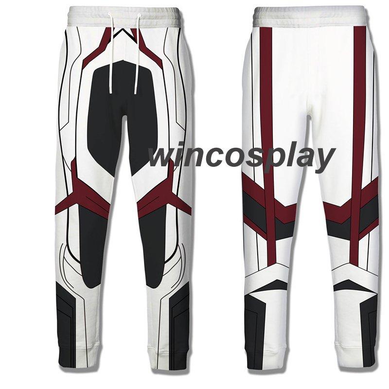 Avengers 4 Endgame Quantum Realm Cosplay Pants Men's 3D Print Sporty Trousers
