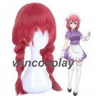 Anime Blend S Amano Miu Cosplay Red Braid Hair Wig wigs maid cosplay wig