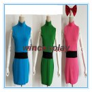 The Powerpuff Girls Cosplay Costume Blossom Bubbles Buttercup cosplay costume kids adult size