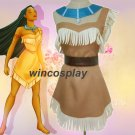 Halloween Cosplay Fancy Dress Princess Pocahontas Costume for Adult Women Girl