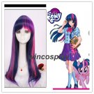 My Little Pony Twilight Sparkle 55cm Blue Pink Purple Mix Long Straight Synthetic Wig
