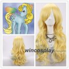 Morning Glory cosplay wig from Morning Glory women yellow cosplay  wigs
