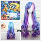 My little pony Princess Celestia unicorn cosplay wig long rainbow  curly wigs