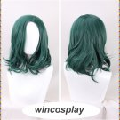 The Gifted Lorna Dane Polaris Synthetic Wavy Dark Green Cosplay Halloween Wig