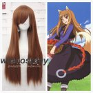 Spice and Wolf Holo Raphtalia Cosplay Wig Brown Long Straight Hair Women Anime