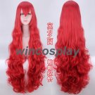Anime Houseki no Kuni Padparadscha Cosplay Curly Hair Wig Land of the Lustrous Cos