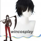 Japan Anime Wigs Angels of Death Zack Isaac Foster Cosplay Black Short Hair Wigs