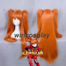 Neon Genesis Evangelion EVA Asuka Langley Soryu Double Ponytail Cosplay Wig 80CM