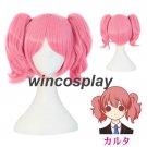 Inu x Boku SS Roromiya Karuta pink double ponytail Cosplay hair wig