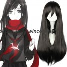 Kagerou Project TATEYAMA AYANO cosplay wig ayano long black cosplay wig