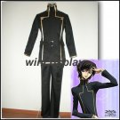 Code Geass Lelouch Lamperouge Cosplay Costume Japanese School Uniform Black Set Mens Costume
