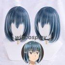 Hinamatsuri Nitta Hina Cosplay wig Highlights Indigo Hair Wig Anime New