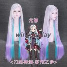 Movie Anime Sword Art Online YUNA Cosplay Wigs Halloween Costumes Long Hair New
