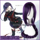 Re:CREATORS Magane Chikujoin cosplay wig Dark Puprle Long Braid Styled Cosplay Hair Wig